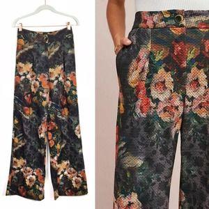 Eva Franco Anthro Simone Floral wide leg pants S